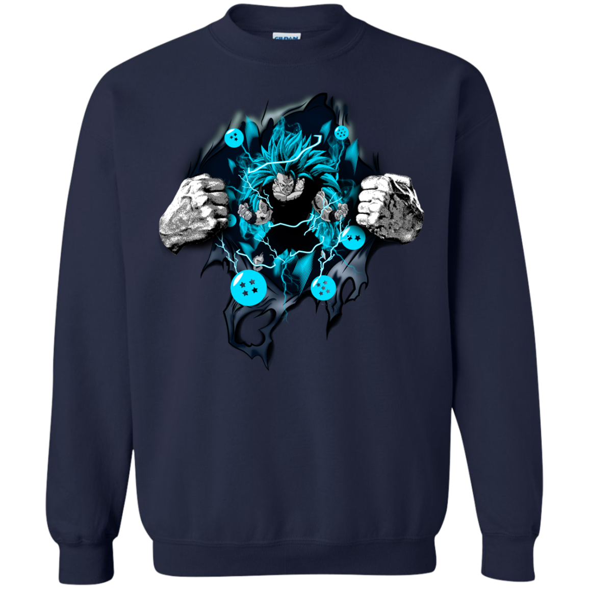 Super Saiyan Songoku Dragon Ball  Z DBZ T shirts Hoodies - Blue Fox