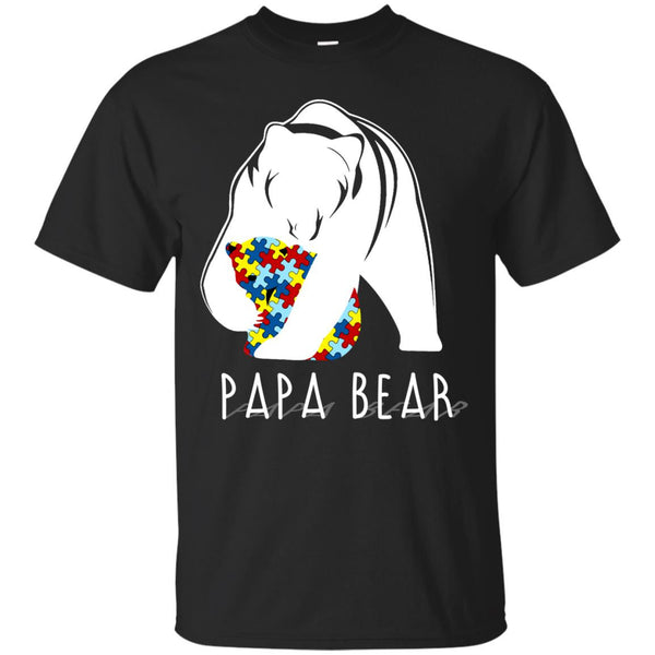 Autism Bear Father T-shirts Papa Bear Hoodies Sweatshirts