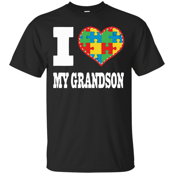 Autism Awareness T-shirts I Love My Grandson With Autism Shirts Hoodies Sweatshirts