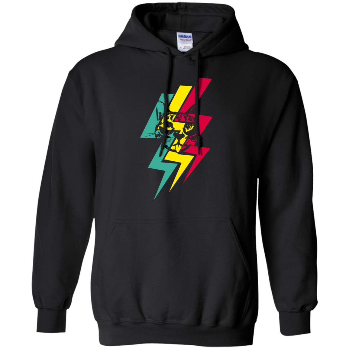 Lightning Cool Cat T shirts Hoodies Gifts For Cat Lovers