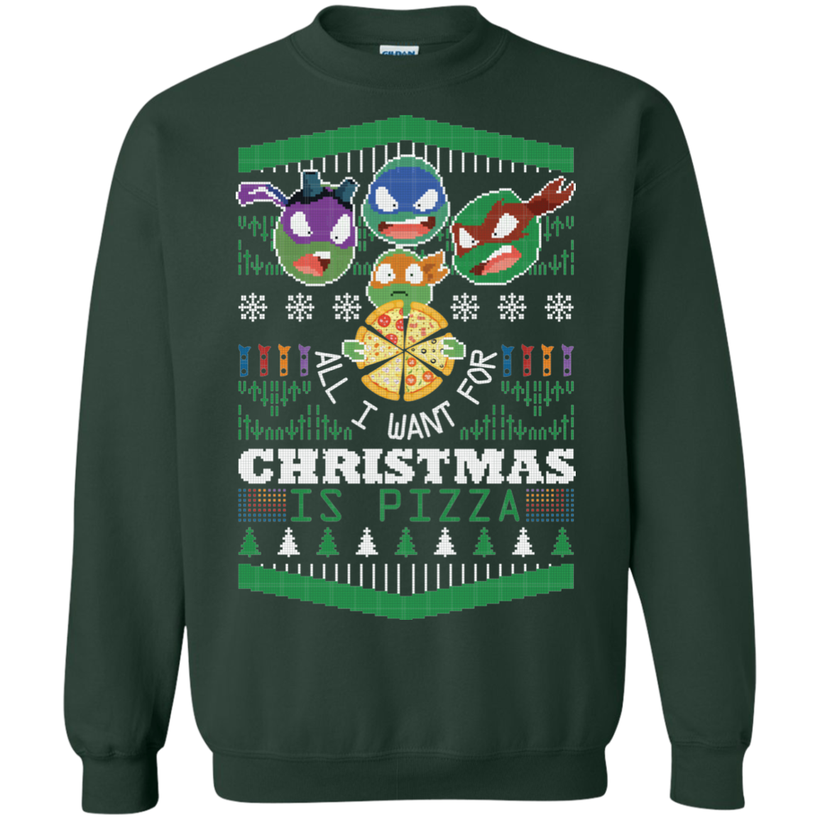 Christmas Ugly Sweater Teenage Mutant Ninja Turtles All I Want For ...