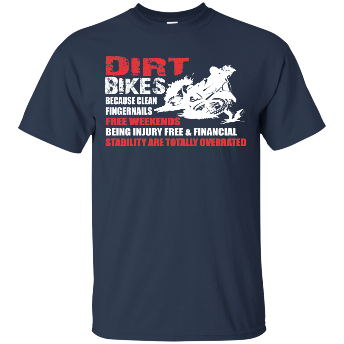 Dirt Bike T-Shirts Hoodies Clean Fingernails Free Weekends Being Injury Free - Blue Fox