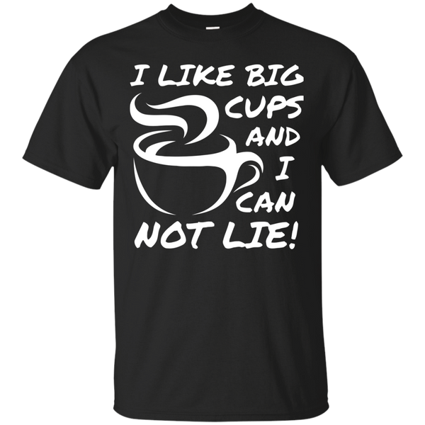 Coffee T-Shirts Hoodies I Like Big Cups - Blue Fox