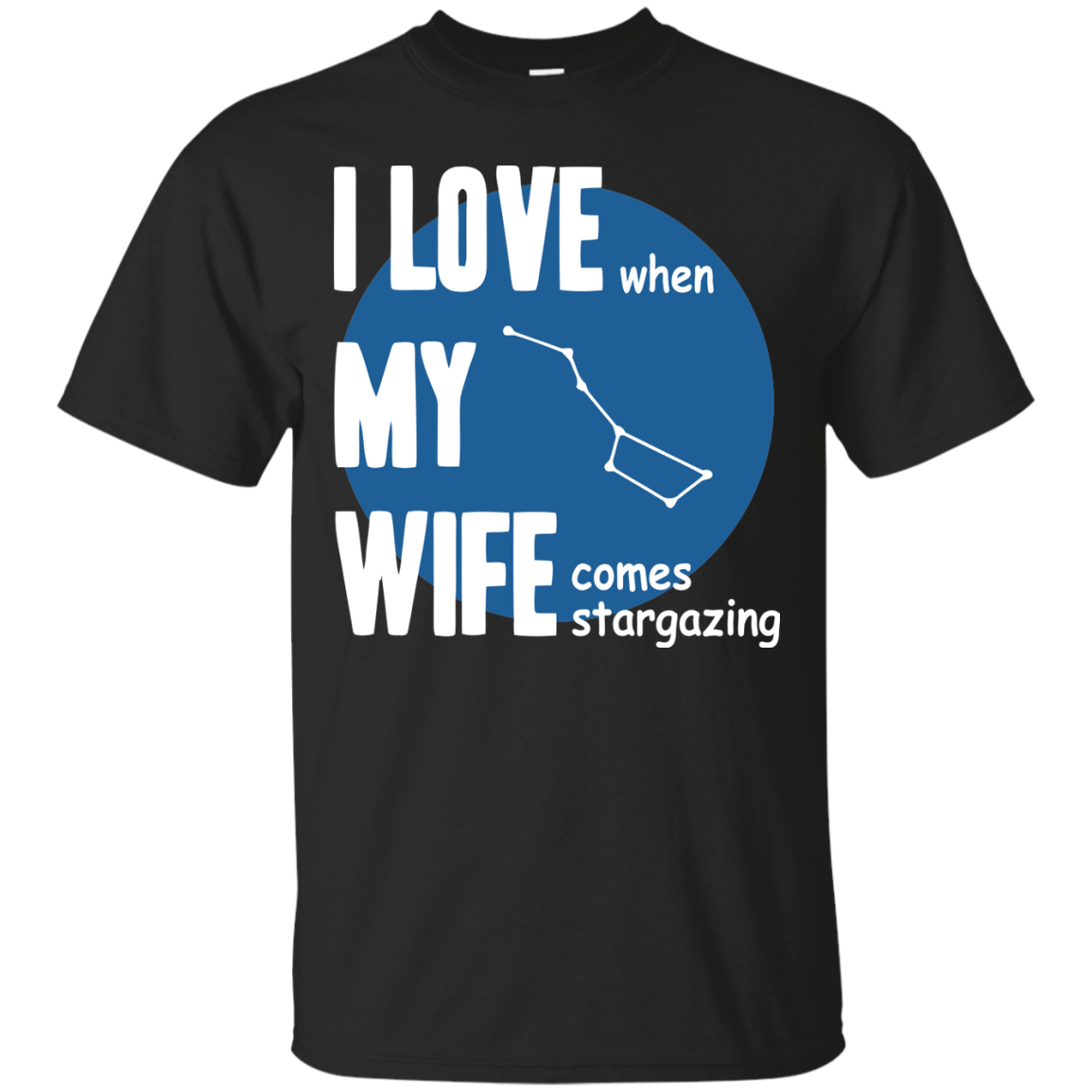 Astronomer T-Shirts Hoodies I Love When  My Wife Come Stargazing