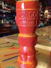 Porco Lounge Tiki Mug 2nd Edition Orange Glaze (Pickup Only)