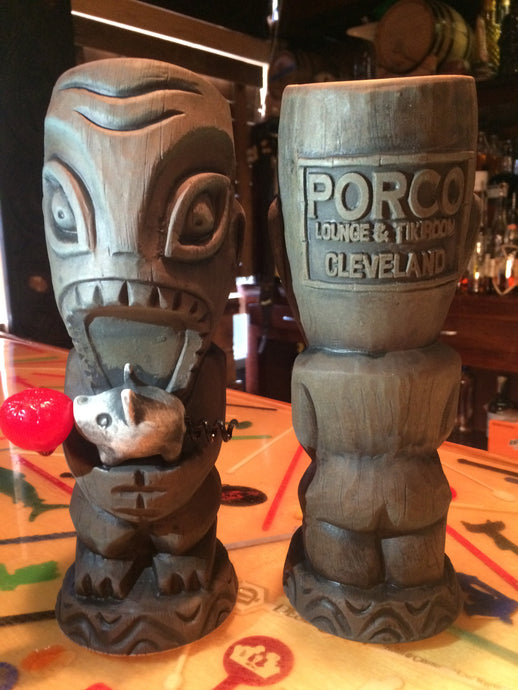 Porco Lounge Tiki Mug 1st Edition Blue Glaze (Shipped)