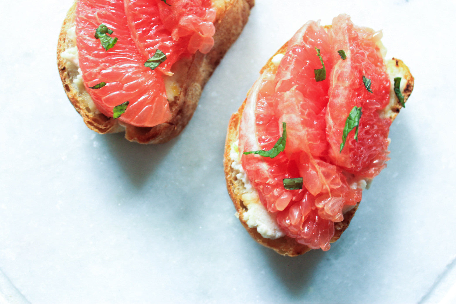 Grapefruit & Honey Ricotta Toast