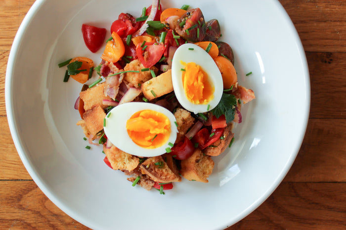 Breakfast Panzanella Salad