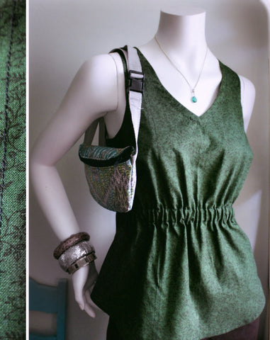 Nightingale Forest Green Cotton Tank Top