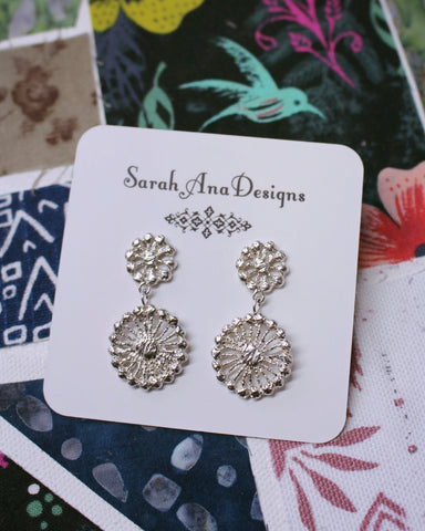 Delicate and Regal Queens Lace Earrings-Sterling silver