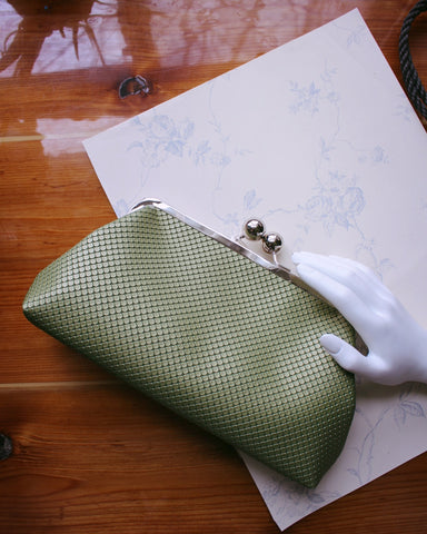 Chic and Charming Green Evening Clutch