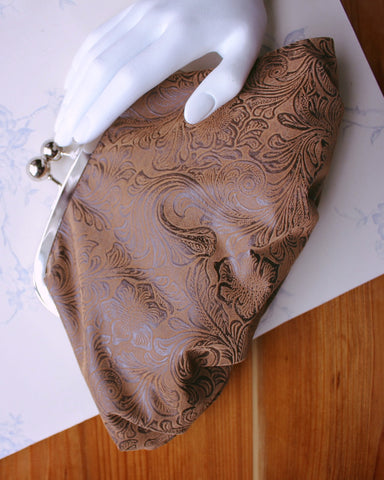 Chic and Charming Textured Brown Evening Clutch