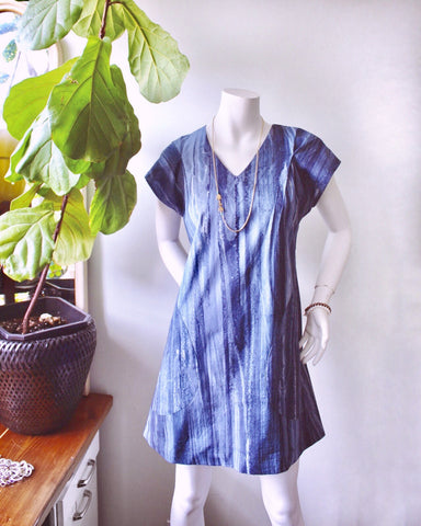Light and Breezy Rio Dress-blue batik