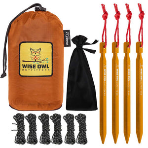 WiseFly Orange Rain Tarp and Bag