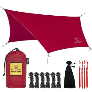 WiseFly Crimson Red Rain Tarp