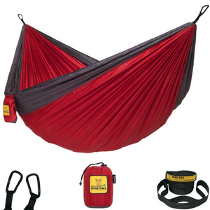 Crimson & Charcoal Hammock
