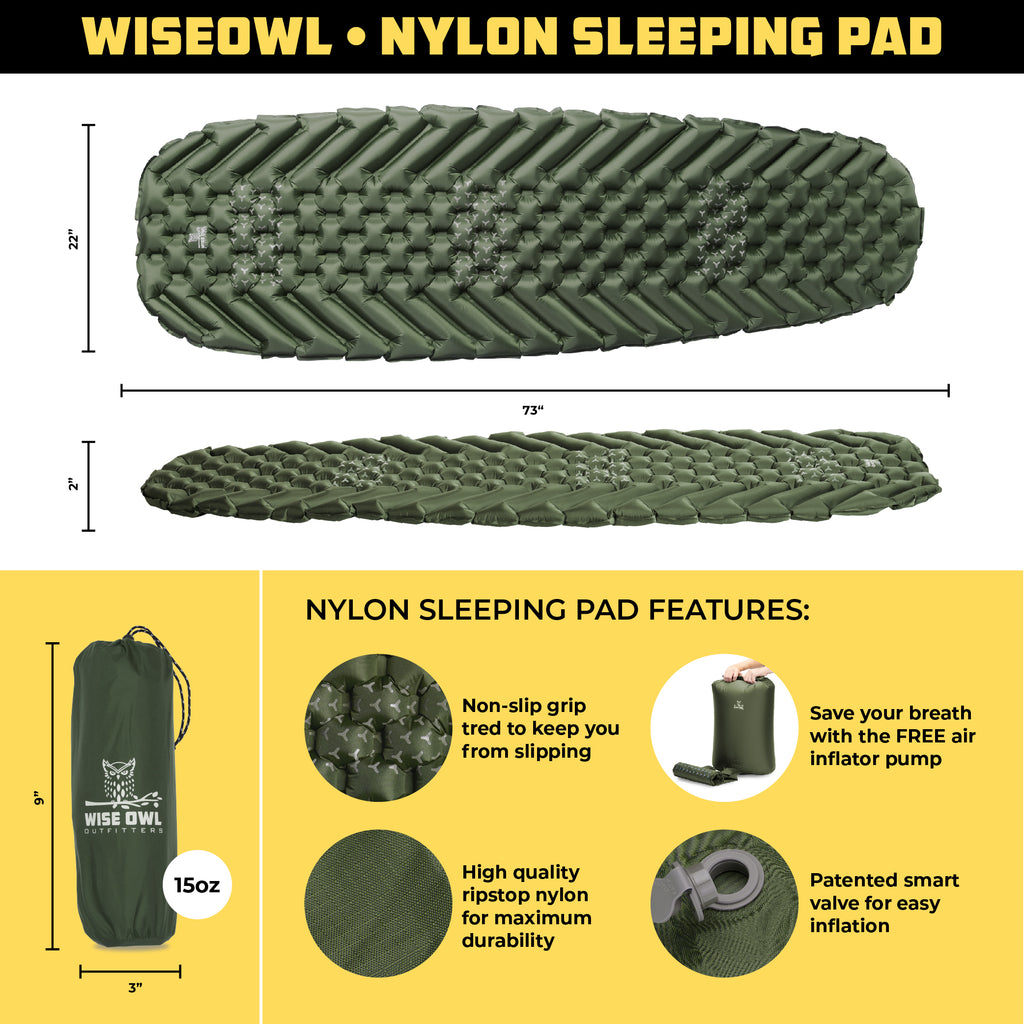 Olive Sleeping Pad Infographic