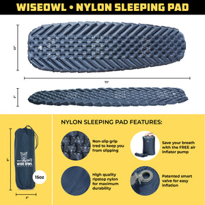 Blue Sleeping Pad Infographic