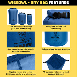 Blue Dry Bag Infographic