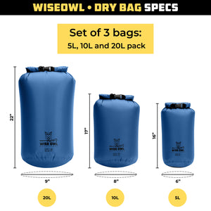 Blue Dry Bag Set