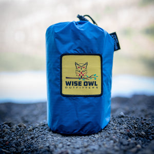 WiseFly Blue Rain Tarp Carrying Bag