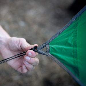 WiseFly Green Rain Tarp Connection Point