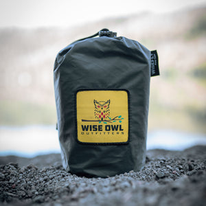 WiseFly Charcoal Gray Rain Tarp Carry bag