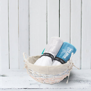 Beach towels in basket