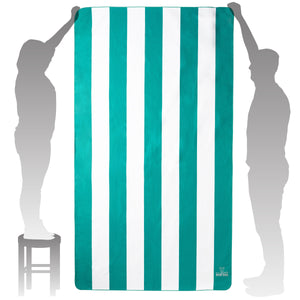 Green Striped Beach Towel
