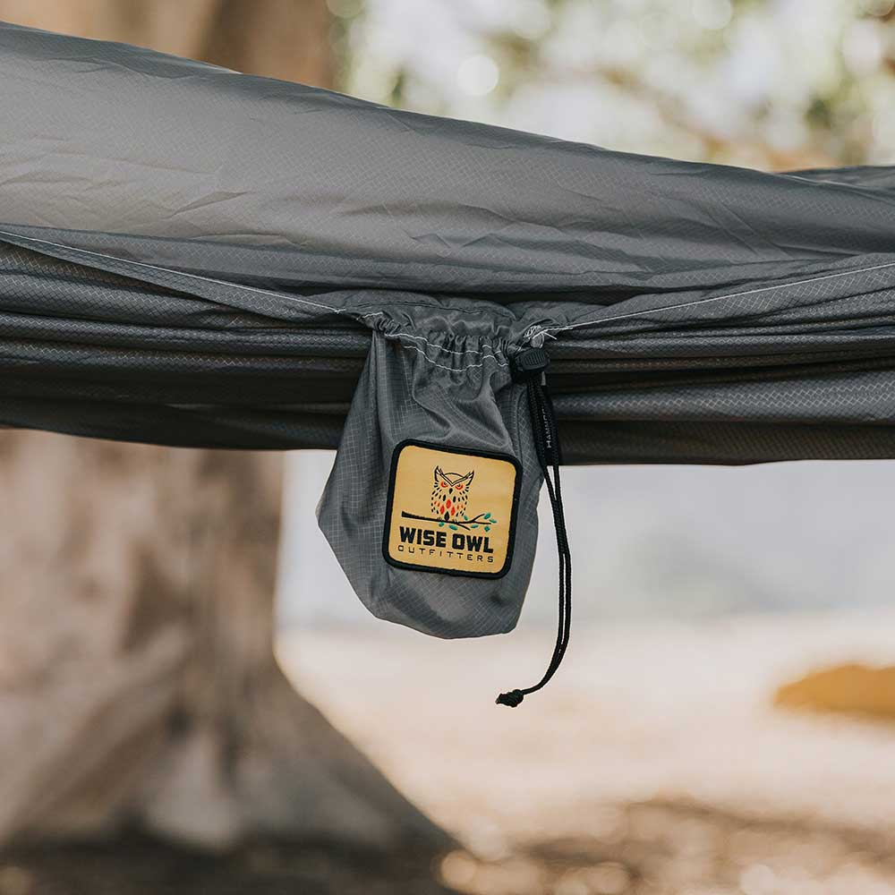 Camping hammocks, bug nets, rain tarps & more | Wise Owl