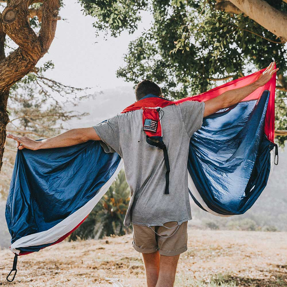 Single & Double Hammock With Straps & Collectible Patch