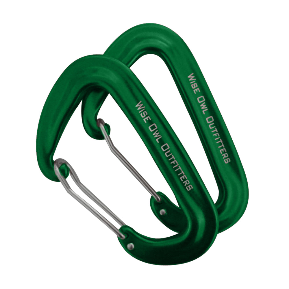 WiseClip Green Carabiners