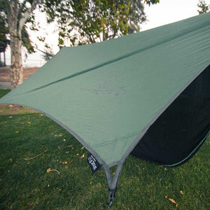 WiseFly Green Rain Tarp outside