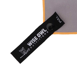 Grey Camping Towel Pull Tag