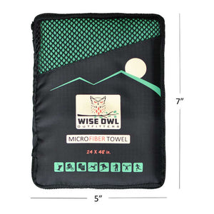 Green Camping Towel Carrying Bag
