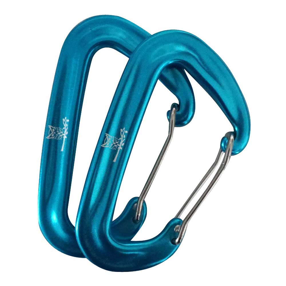 WiseClip Light Blue Carabiners