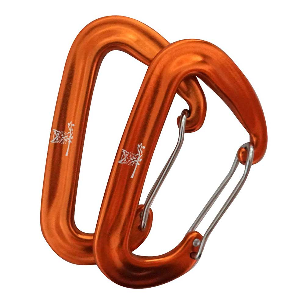 WiseClip Orange Carabiners