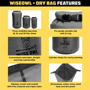 Grey Dry Bag Infographic