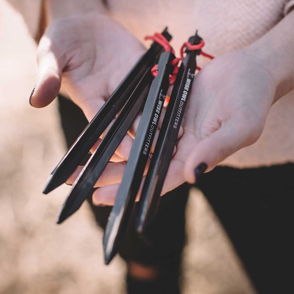 WiseFly Charcoal Gray tent stakes