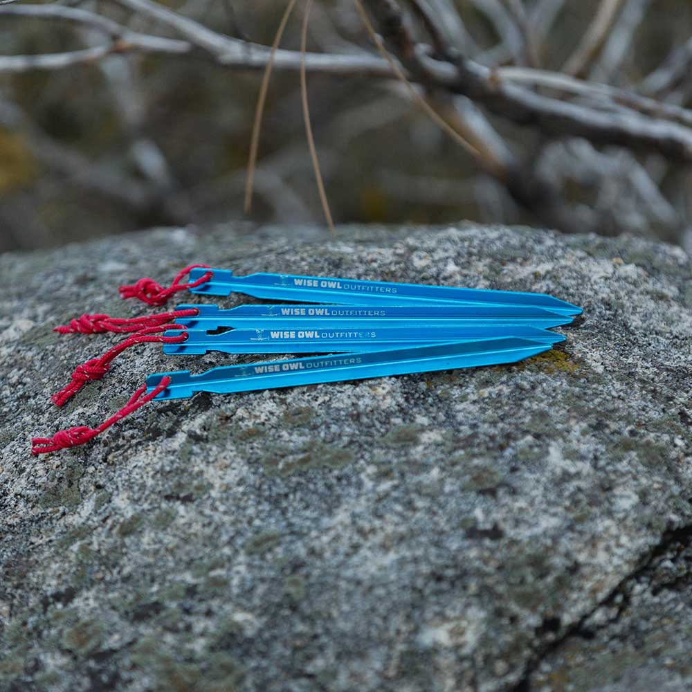 WiseFly Blue Tent Stakes