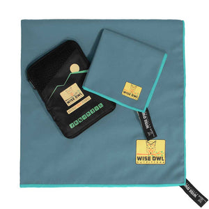 Marine Blue Camping Towel with Hand Towel