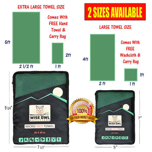 Green Camping Towel Infographic