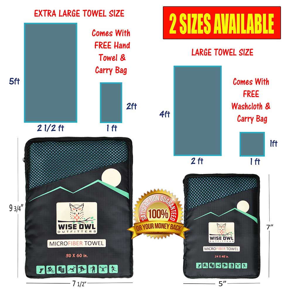 30x60 Camping Towel Infographic