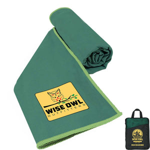 Green Camping Towel