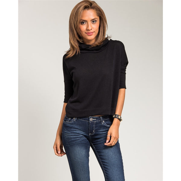 Loose Turtle Neck Sweater Top
