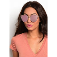 Thin Brow Angular Aviator Fashion Sunglasses