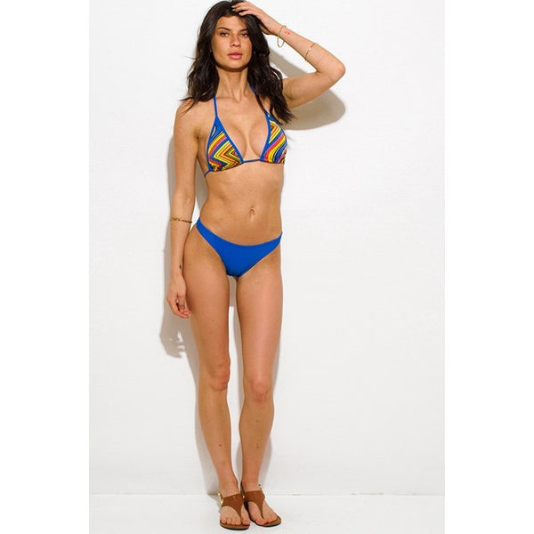 Retro Cobalt Bikini Swimsuit Set