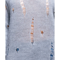 Distressed Ripped Jumper Sweater