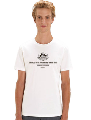 Department of Genuine Satire - White Tee - See-Shirts