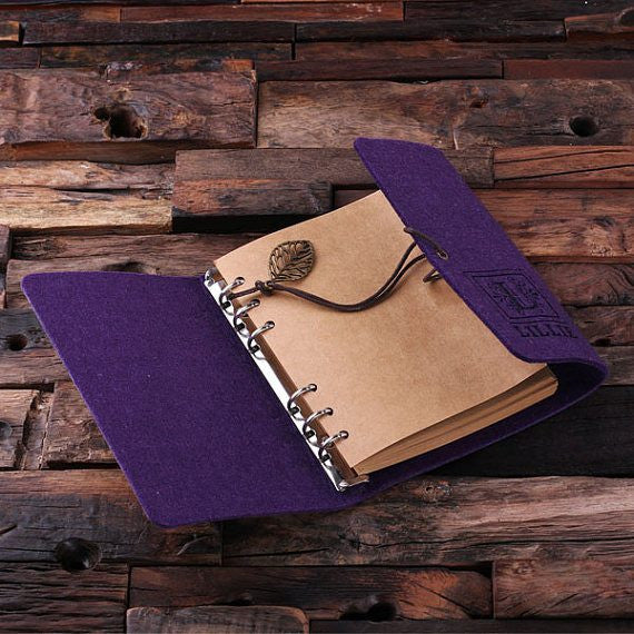 Personalized Felt Notebook/Journal & Key Chain Set